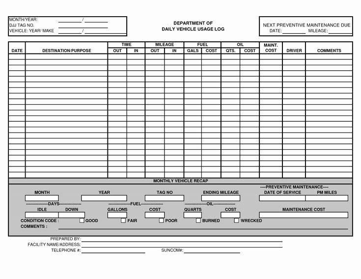 Vehicle Maintenance Checklist Template New Vehicle Maintenance Log Template Excel Ewolf
