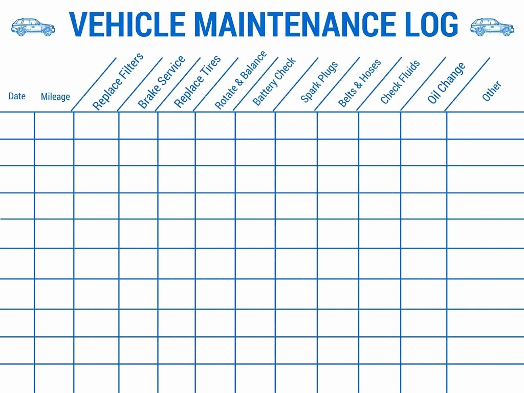 Vehicle Maintenance Log Template Beautiful Vehicle Maintenance Log Stay Safe On Your Up Ing