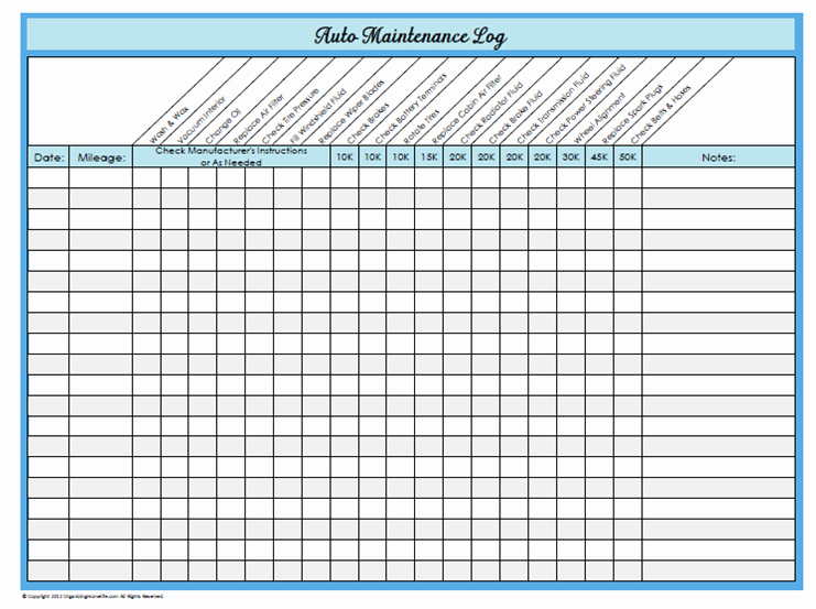Vehicle Maintenance Log Template Beautiful Vehicle Maintenance Spreadsheet