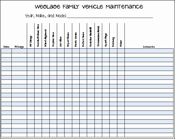 Vehicle Maintenance Log Template Elegant Printable Vehicle Maintenance Log Template