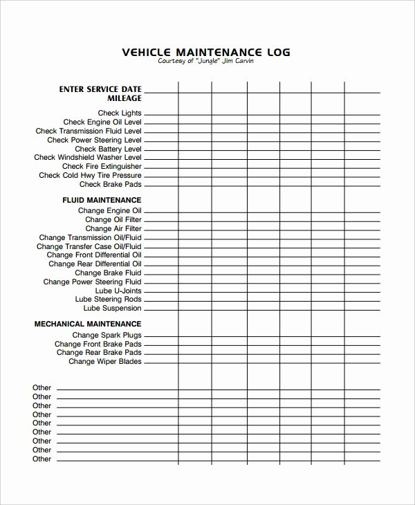 Vehicle Maintenance Schedule Template New Image Result for Excel Vehicle Maintenance Log