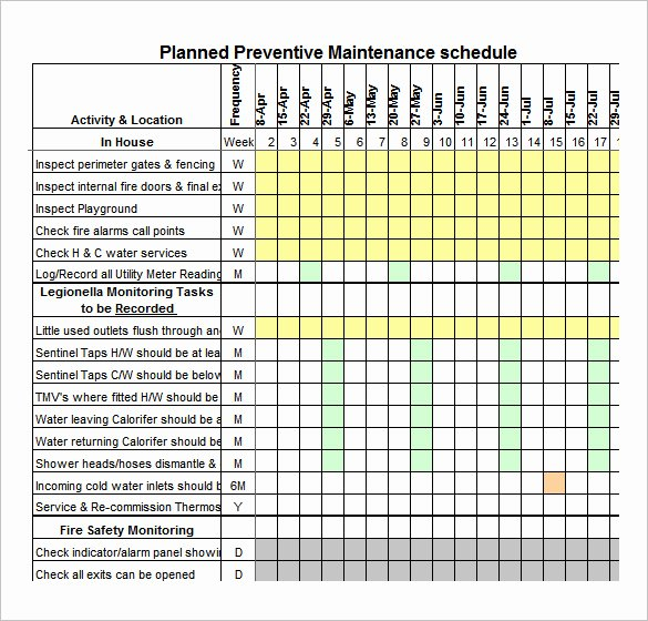 Vehicle Maintenance Schedule Template New Vehicle Maintenance Schedule Template Excel
