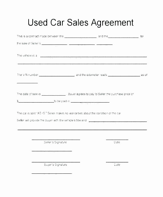 Vehicle Purchase order Template Beautiful Vehicle Purchase order Template Sample Motor Auto Dealer