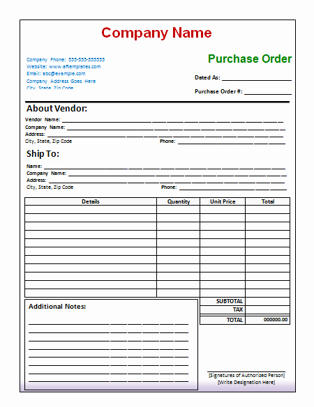 Vehicle Purchase order Template New 40 Free Purchase order Templates forms