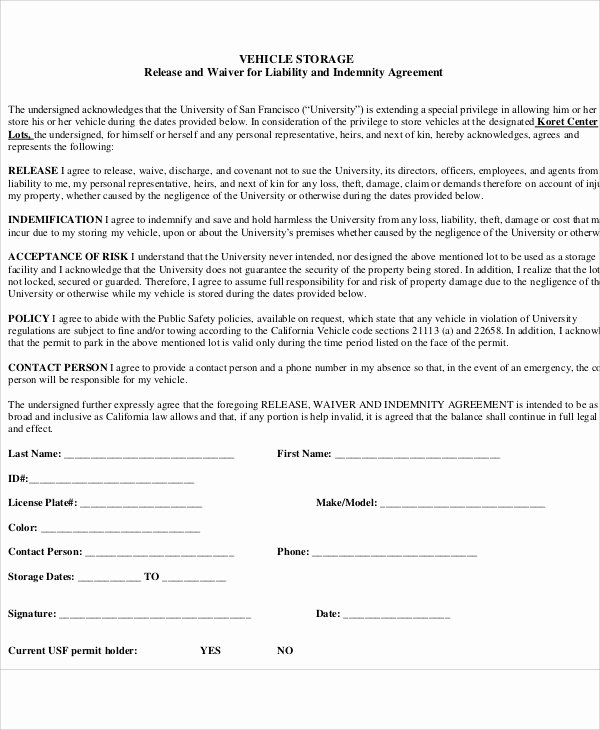 Vehicle Release form Template Beautiful Sample Vehicle Release form 9 Examples In Word Pdf