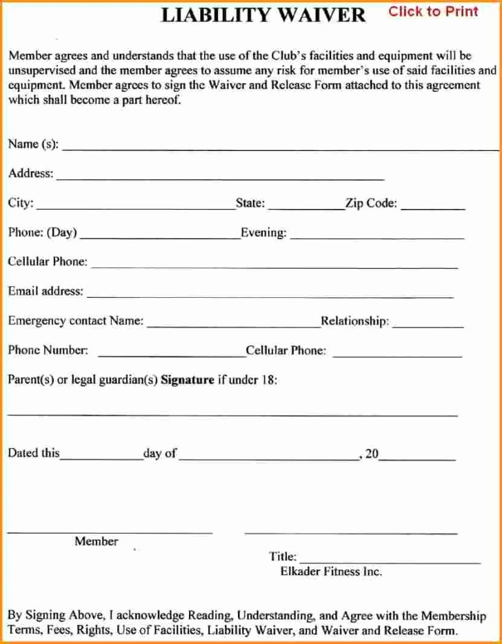 Vehicle Release form Template New Liability Release form form Trakore Document Templates