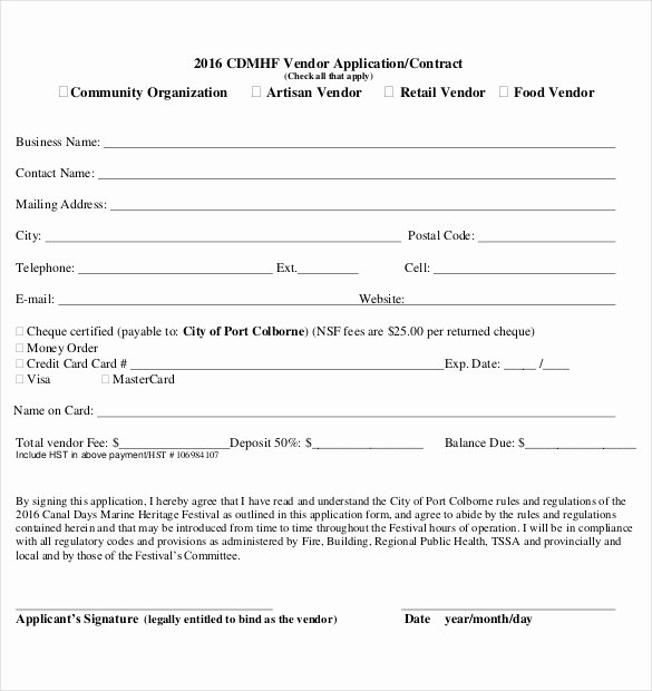 Vendor Application form Template Elegant 10 Vendor Application Templates – Free Sample Example