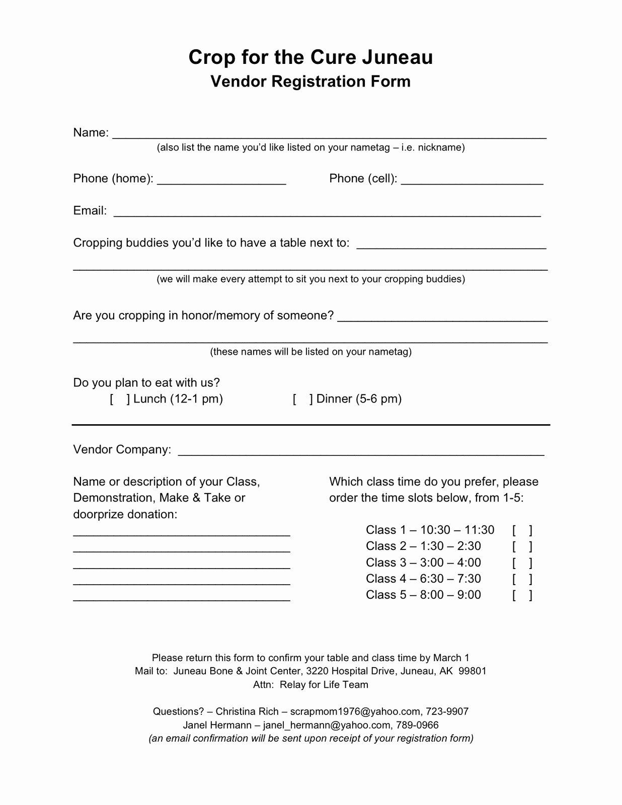 Vendor Application form Template Elegant form Vendor Registration form
