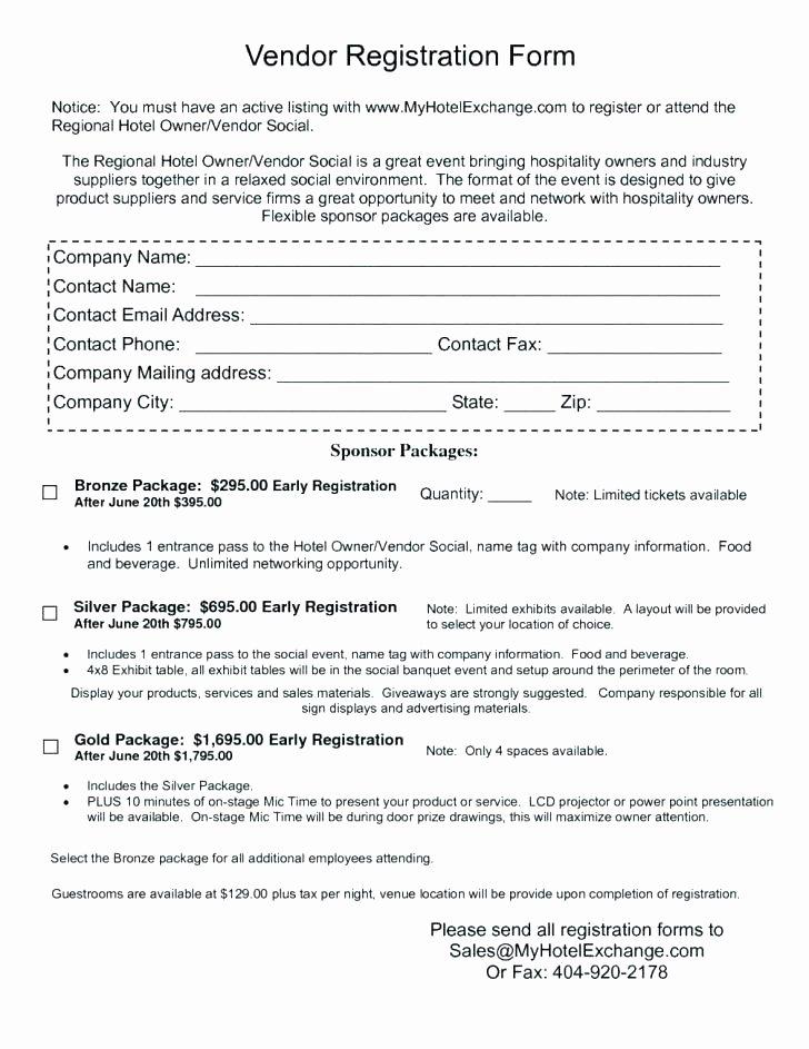 Vendor Application form Template Lovely Festival Vendor Application Template – Flybymedia