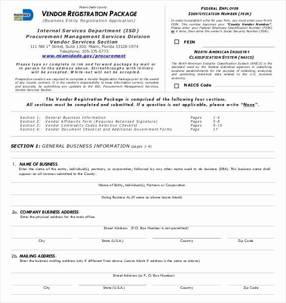 Vendor Application form Template Lovely Vendor Application Template – 9 Free Word Pdf Documents