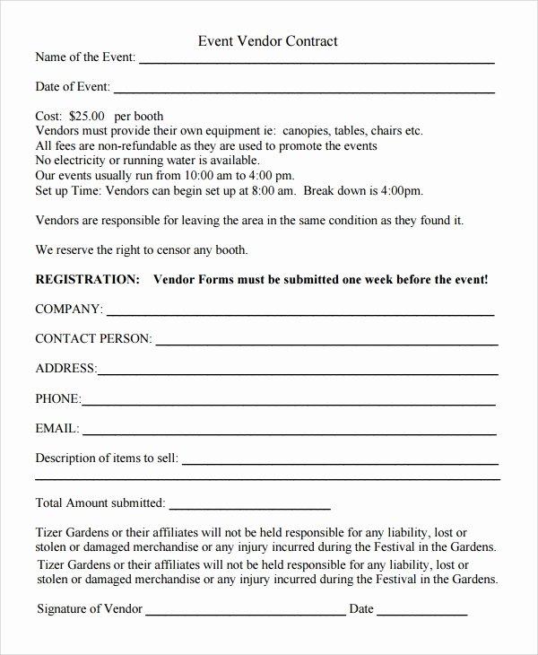Vendor Application form Template Luxury 9 Sample Vendor Registration forms