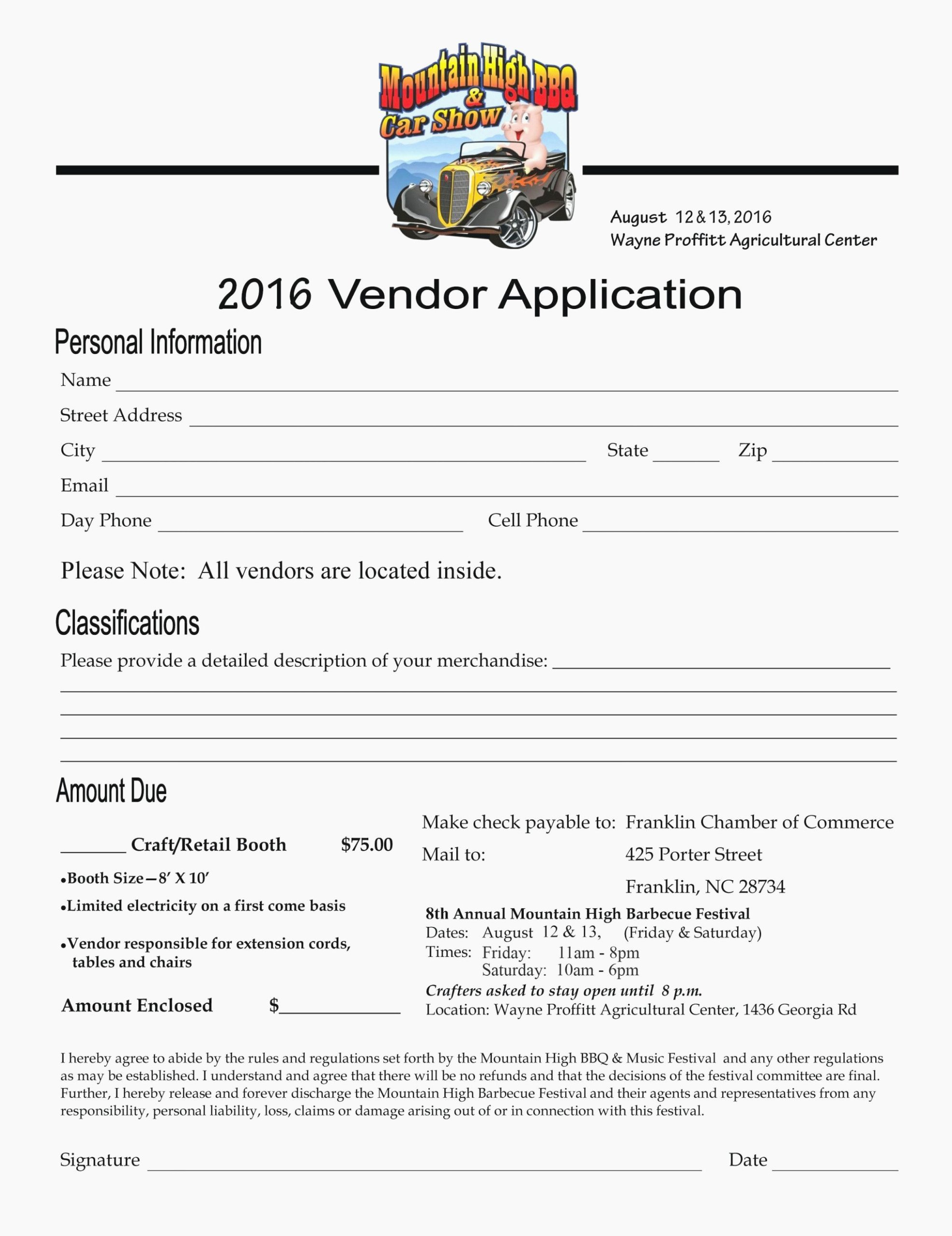 Vendor Application form Template Unique 13 Important Life Lessons Vendor