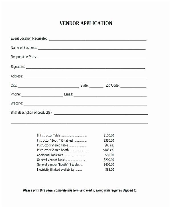 Vendor Information form Template Awesome Vendor Setup Template – Loparfo