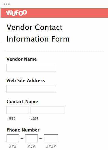 Vendor Information form Template Lovely Lead Generation form Templates