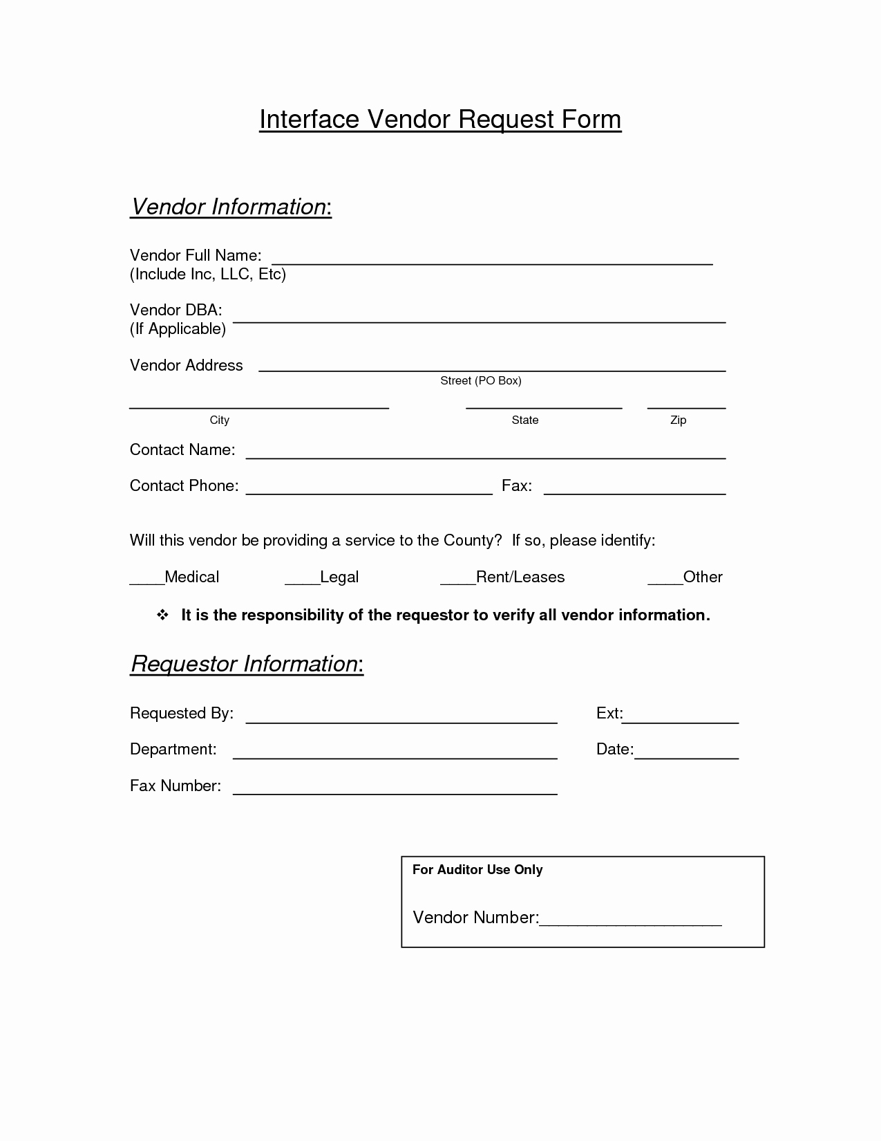 Vendor Information form Template Lovely New Vendor Request form Template the 13 Secrets About New