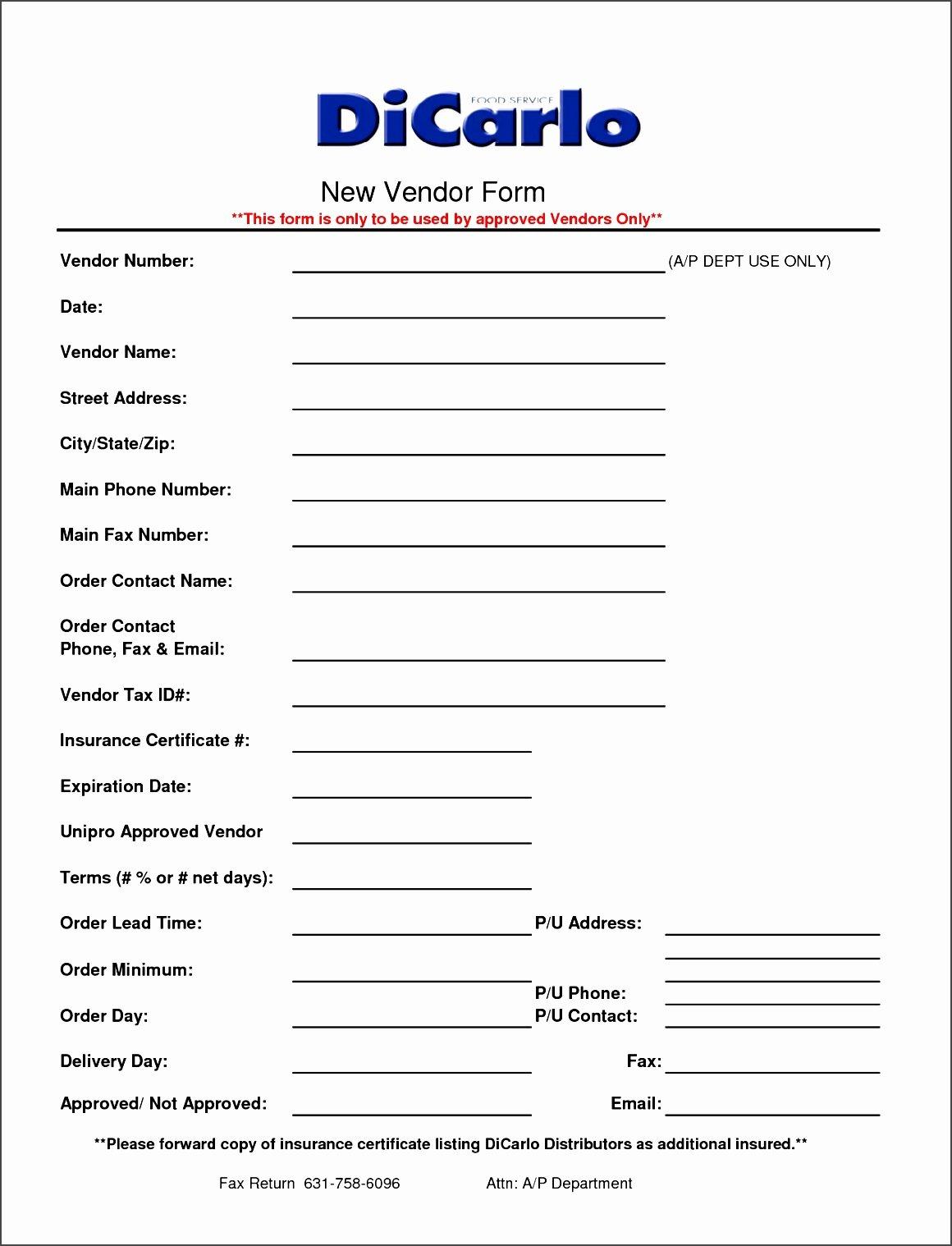 Vendor Information form Template Lovely Supplier Information form Template Yenef Luxury Best S