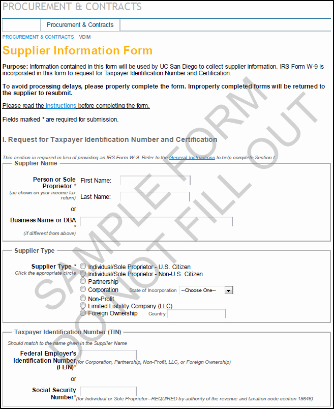Vendor Information form Template New New Supplier form Template Vendor Information Request form