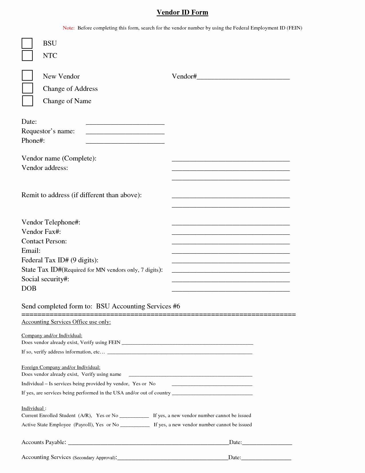 Vendor Information form Template Unique Best S Of New Vendor Request form Template Vendor