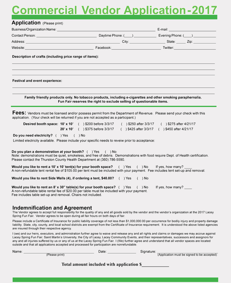 Vendor Registration form Template Best Of 9 Printable Blank Vendor Registration form Templates for