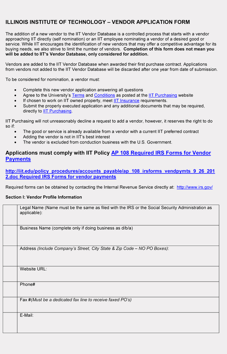 Vendor Registration form Template Lovely 9 Printable Blank Vendor Registration form Templates for