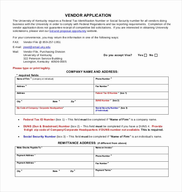 Vendor Registration form Template Luxury Vendor Application Template – 9 Free Word Pdf Documents
