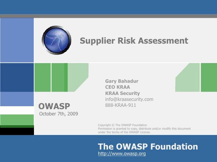 Vendor Risk assessment Template Luxury Supplier Risk assessment