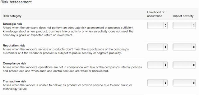 Vendor Risk assessment Template New Perform Vendor Risk assessments with Our software