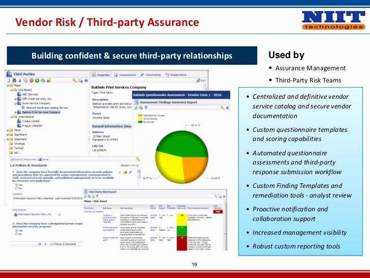 Vendor Risk assessment Template Unique Vendor Risk Management