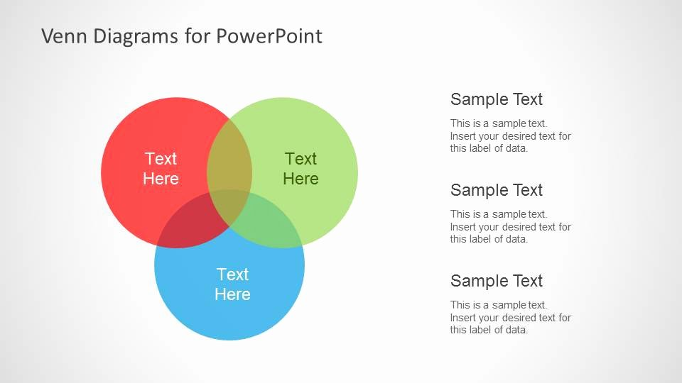 Venn Diagram Powerpoint Template Awesome Colorful Venn Diagrams for Powerpoint Slidemodel