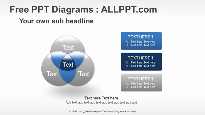 Venn Diagram Powerpoint Template Awesome Venn Diagrams Relationship Ppt Diagrams Download Free