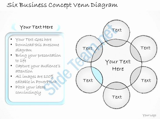Venn Diagram Powerpoint Template Fresh 2502 Business Ppt Diagram Six Business Concept Venn