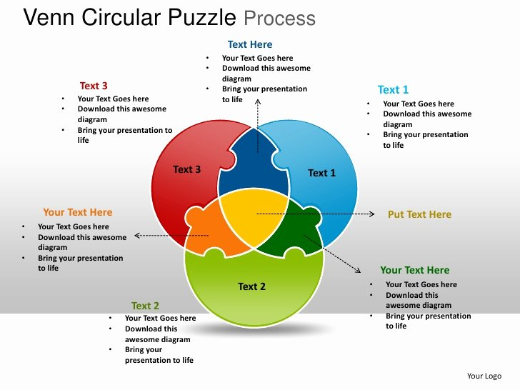 Venn Diagram Powerpoint Template Lovely Venn Circular Puzzle Process Powerpoint Templates