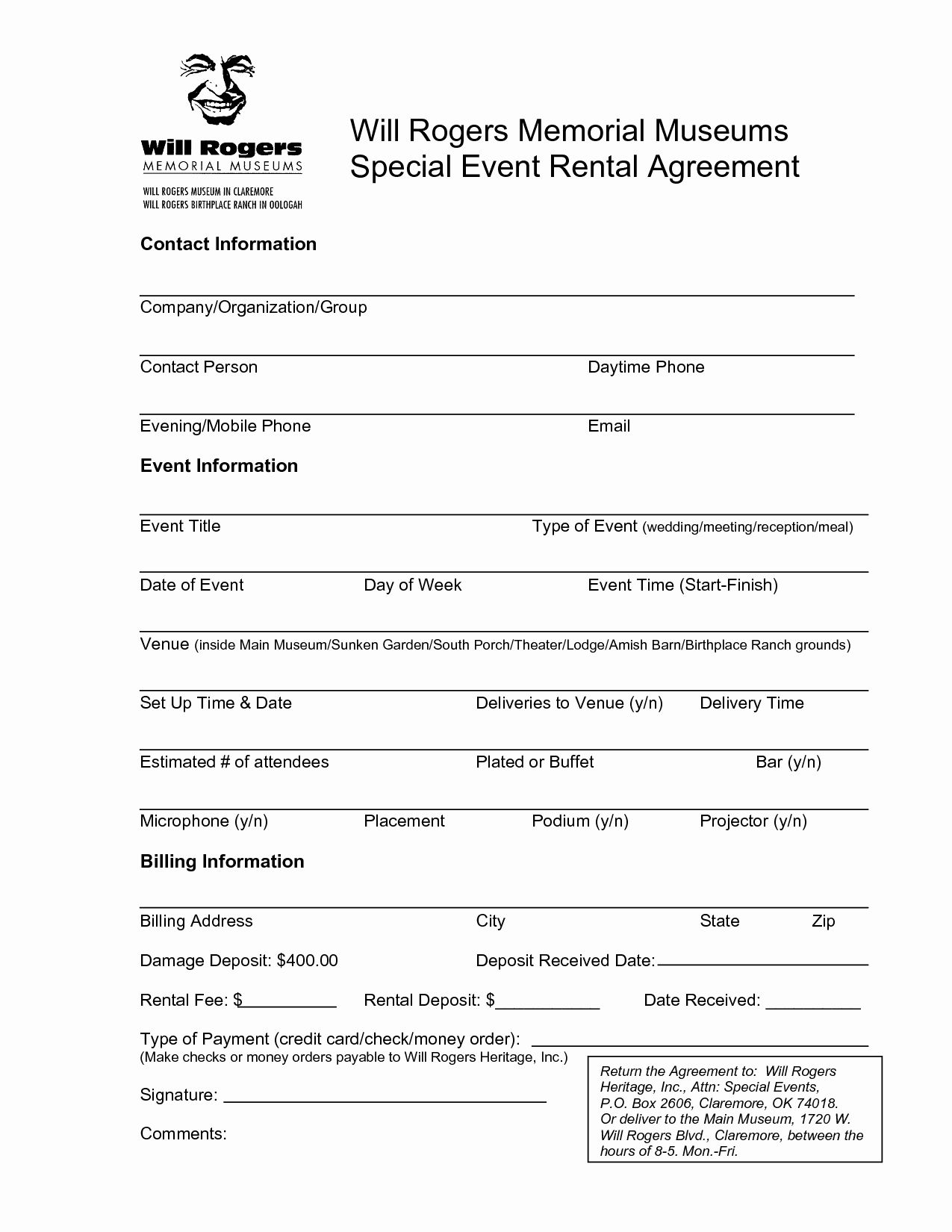 Venue Rental Agreement Template New Best S Of Venue Rental Contract Template Real