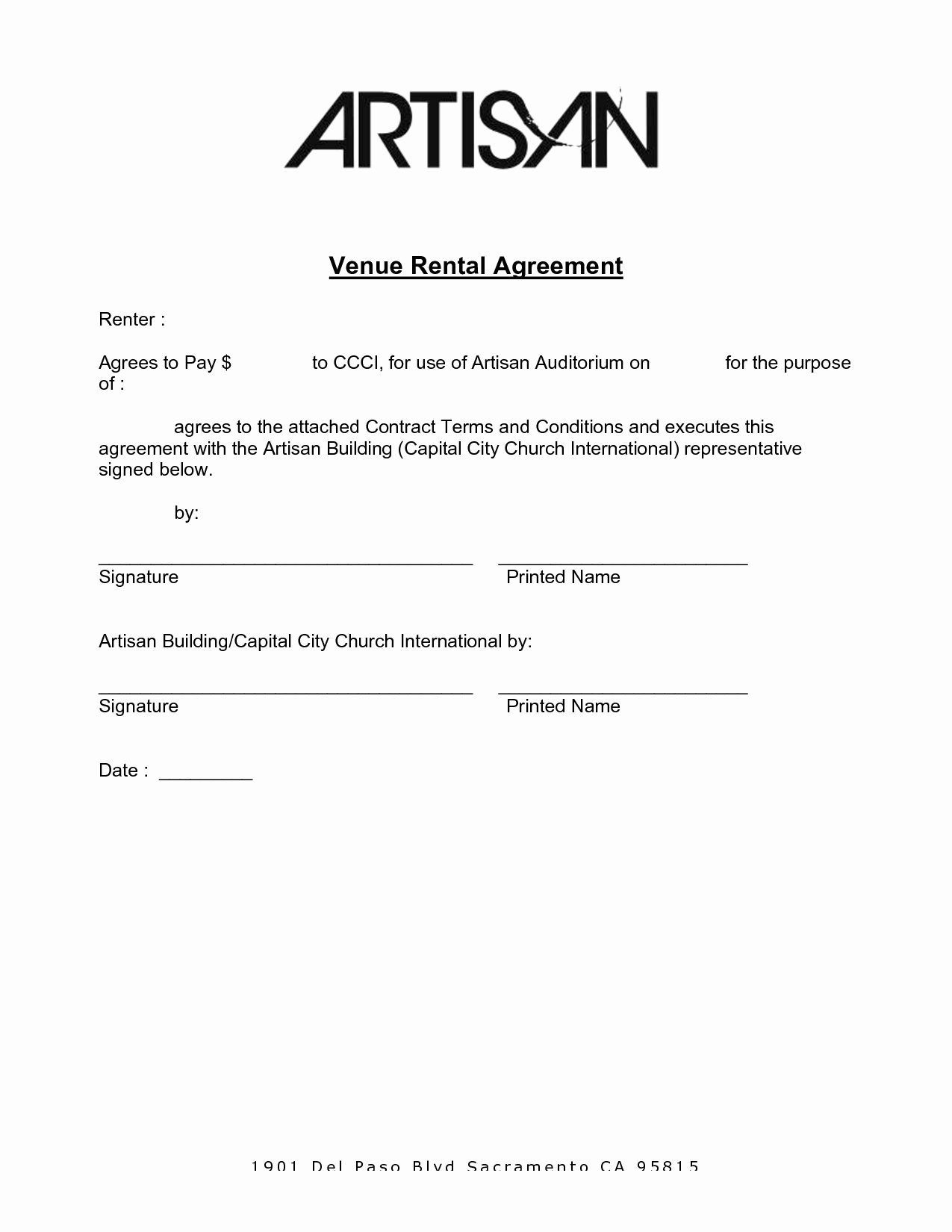 Venue Rental Agreement Template Unique Best S Of Venue Rental Contract Template Real