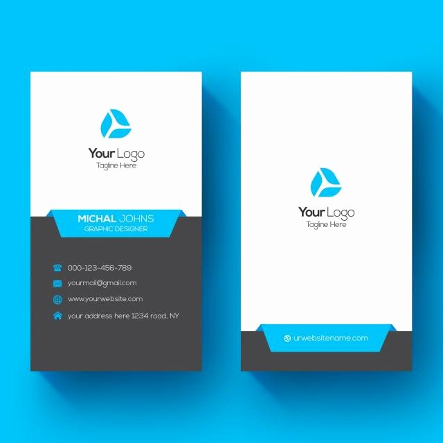 Vertical Business Card Template Awesome Vertical Business Card Template for Free Download On Tree