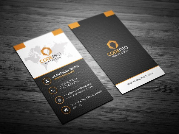 Vertical Business Card Template Beautiful 23 Professional Business Cards Free