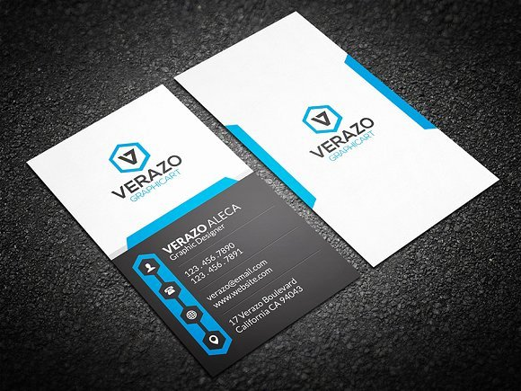 Vertical Business Card Template Beautiful Creative Vertical Business Card Business Card Templates