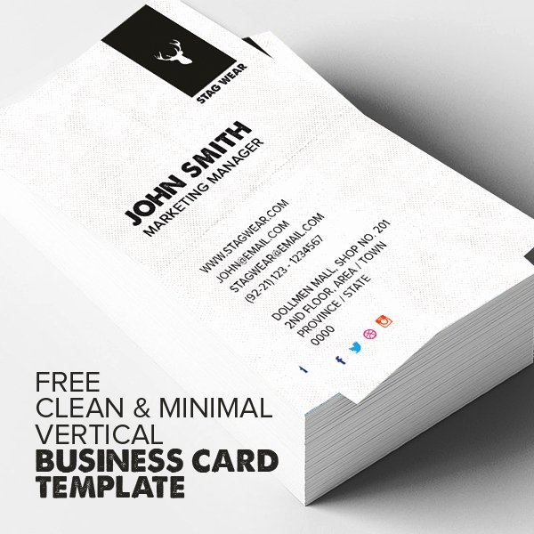 Vertical Business Card Template Beautiful Freebie – Vertical Business Card Psd Template