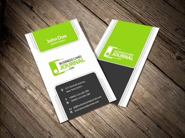 four vertical business card template