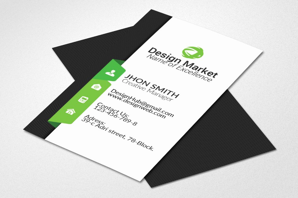 Vertical Business Card Template Elegant Vertical Business Card Template