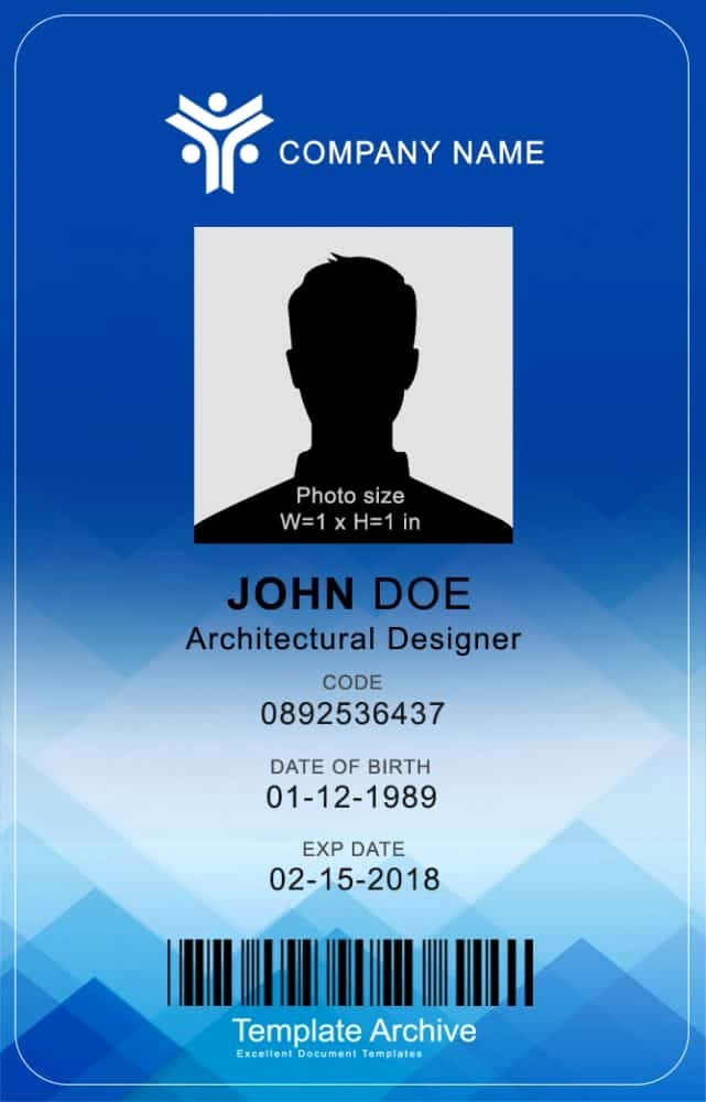 Vertical Id Badge Template Awesome 16 Id Badge & Id Card Templates Free Template Archive