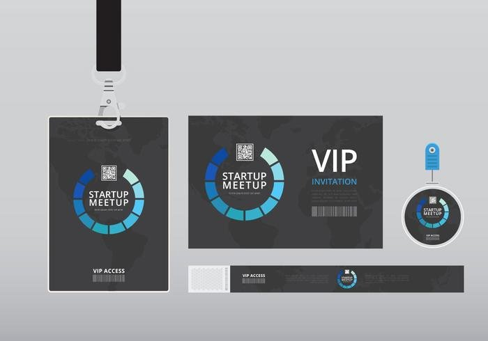 Vertical Id Badge Template Awesome Vip Pass Id Card Template Realistic Blank Vertical Id