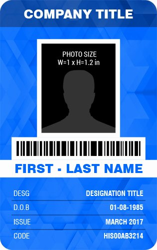 Vertical Id Badge Template Elegant Vertical Design Employee Id Badge Templates