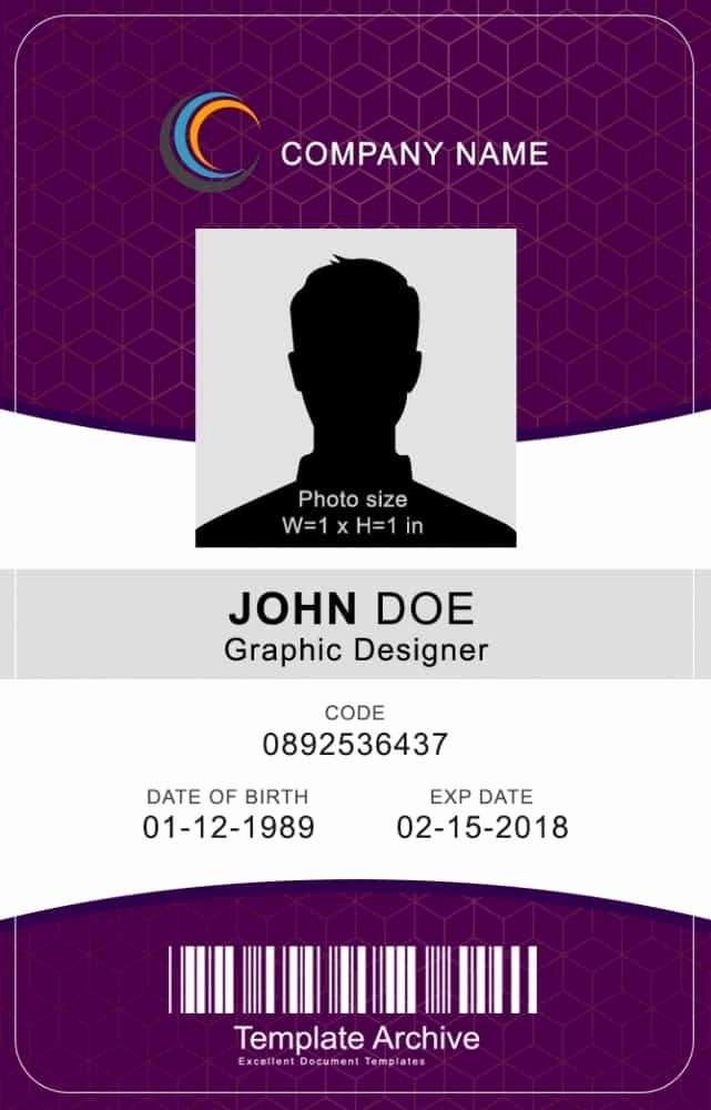 Vertical Id Badge Template Fresh 16 Id Badge & Id Card Templates Free Template Archive