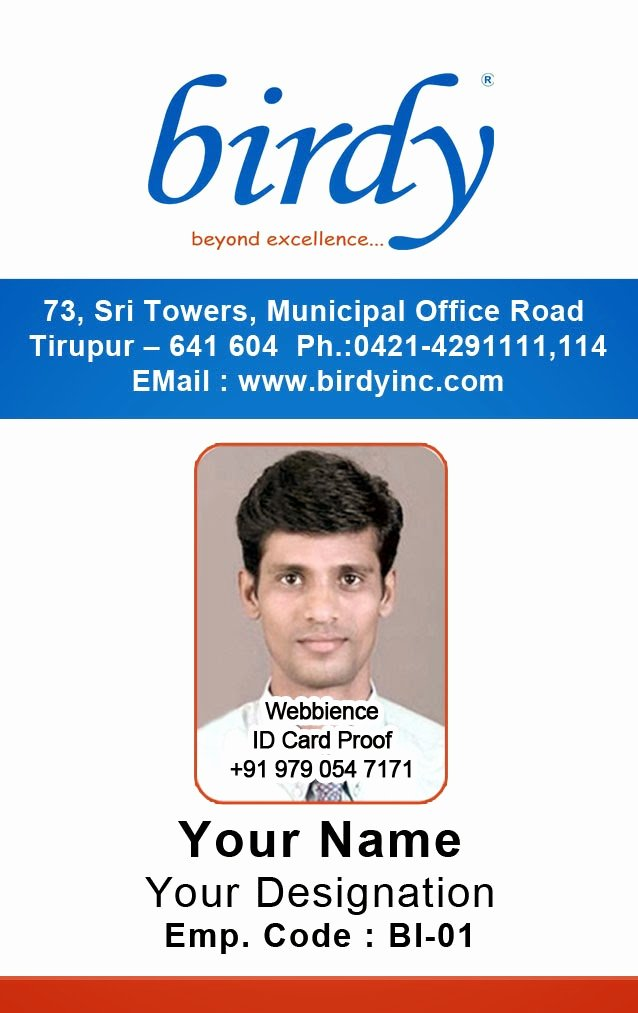 Vertical Id Badge Template Fresh Id Card Coimbatore Ph Vertical Employee