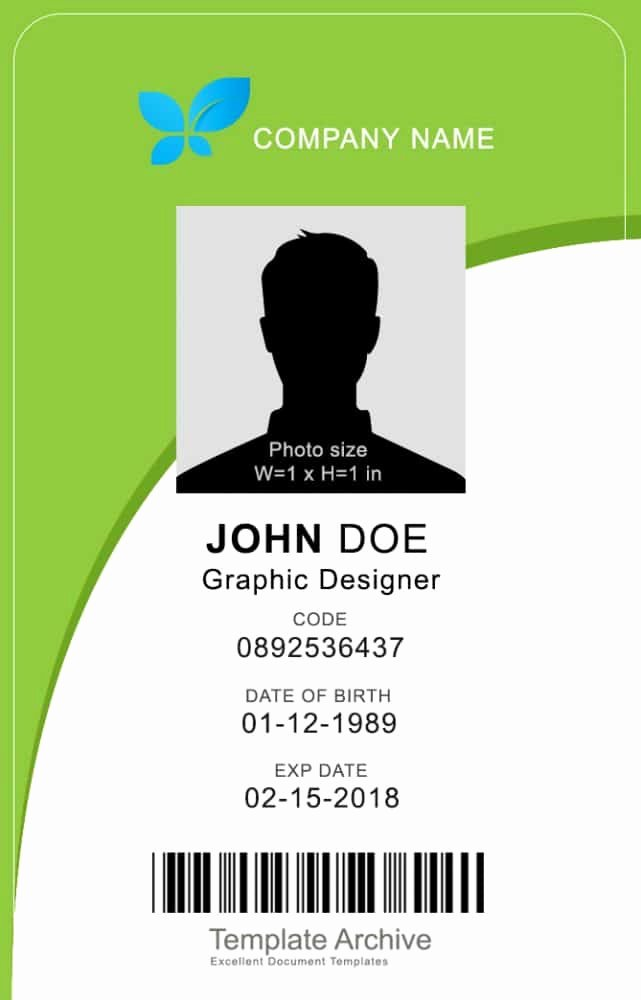 Vertical Id Badge Template Inspirational 16 Id Badge & Id Card Templates Free Template Archive
