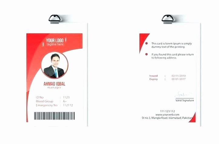 Vertical Id Badge Template Lovely Vertical Id Card Template Badge Free Employee Design Staff