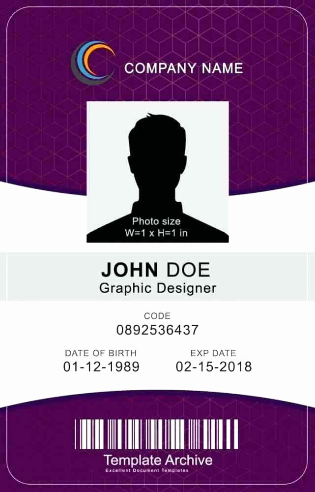 Vertical Id Badge Template Unique Identification Card Template Publisher Id Cards Sample