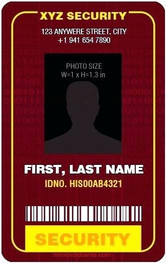 Vertical Name Badge Template Lovely Security Id Badge Template – Homeish