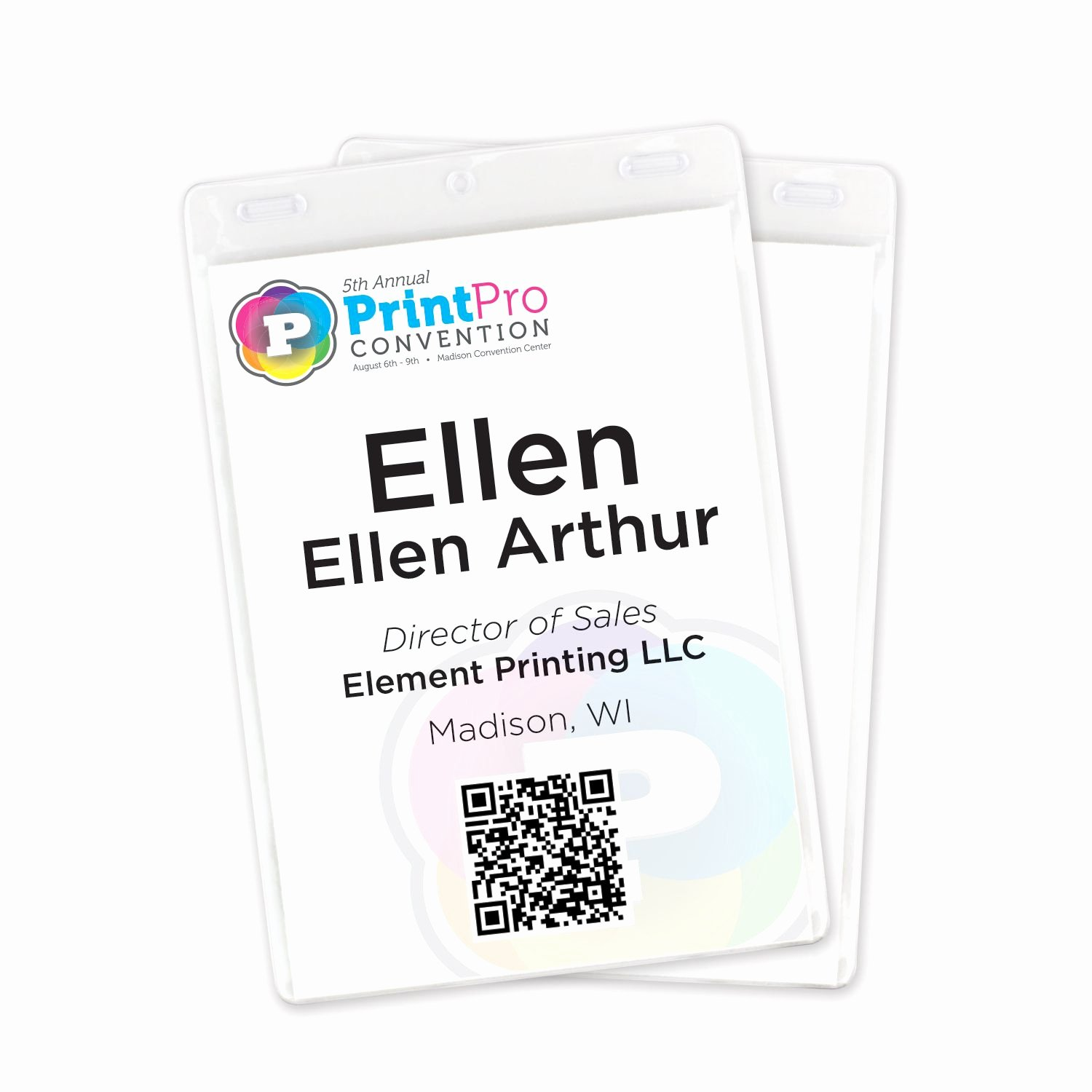 "Vertical Name Badge Template Unique 4 1 4"" X 6"" Vertical Vinyl Name Tag Holder Double Slot"